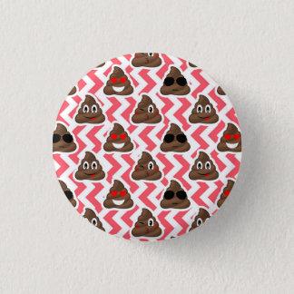 Chapa Redonda De 2,5 Cm Modelo de zigzag rojo de Emoji del impulso de la