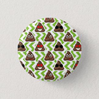 Chapa Redonda De 2,5 Cm Modelo verde Emojis del impulso del zigzag