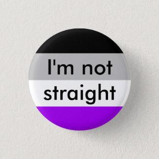 Chapa Redonda De 2,5 Cm orgullo asexual no soy perno recto