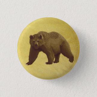 Chapa Redonda De 2,5 Cm Oso grizzly