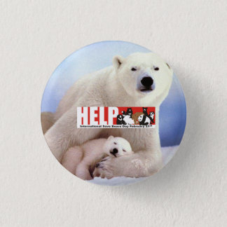 Chapa Redonda De 2,5 Cm osos polares de la ayuda ISBD