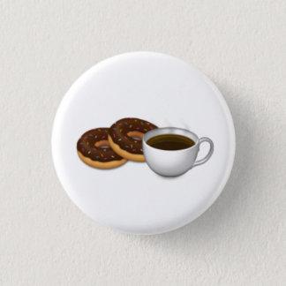 Chapa Redonda De 2,5 Cm ¡Para el amor de anillos de espuma y del café!