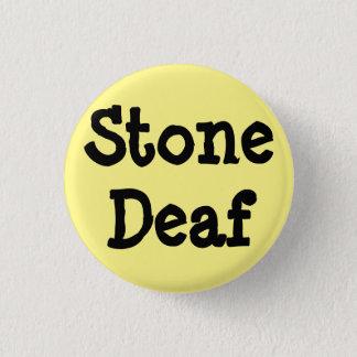 """Chapa Redonda De 2,5 Cm Perno amarillo claro, """"sordos de piedra """""""