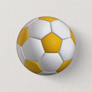 Chapa Redonda De 2,5 Cm Perno del balón de fútbol (futbol)/botón - oro