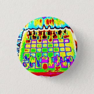 Chapa Redonda De 2,5 Cm perno psicodélico del tablero de ajedrez del color