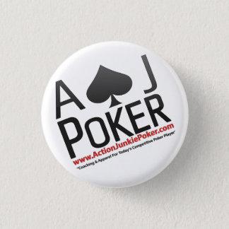 Chapa Redonda De 2,5 Cm Pernos del póker del drogadicto de la acción