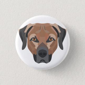 Chapa Redonda De 2,5 Cm Perro Brown Labrador del ilustracion