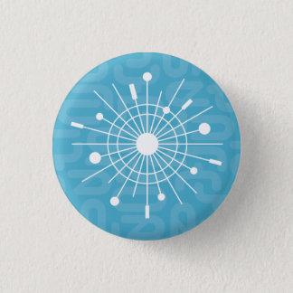 Chapa Redonda De 2,5 Cm Pin atómico moderno de la MOD del navidad del copo