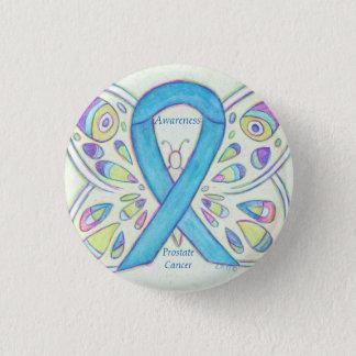Chapa Redonda De 2,5 Cm Pin azul del personalizado de la cinta de la