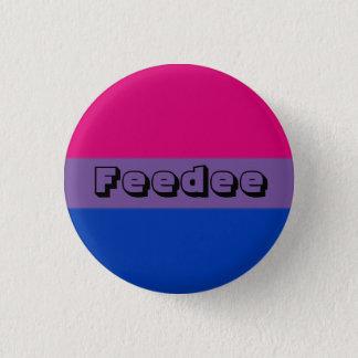 Chapa Redonda De 2,5 Cm Pin bisexual de Feedee