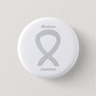 Chapa Redonda De 2,5 Cm Pin blanco del arte de la cinta de la conciencia