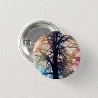 Chapa Redonda De 2,5 Cm Pin colorido del árbol