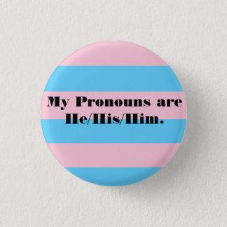 Chapa Redonda De 2,5 Cm Pin de los pronombres