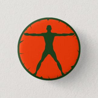 Chapa Redonda De 2,5 Cm Pin-Detrás redondo del hombre de Vitruvian de la