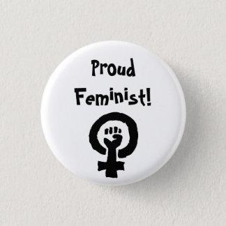 Chapa Redonda De 2,5 Cm Pin orgulloso de la feminista