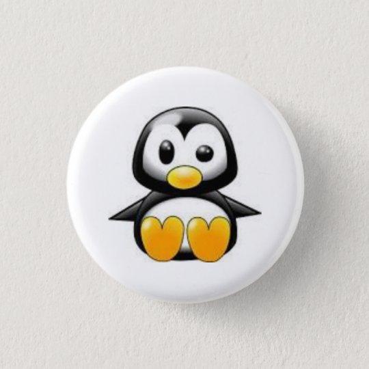 Chapa Redonda De 2,5 Cm pin pinguino animado