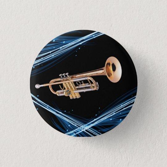 Chapa Redonda De 2,5 Cm Pin trompeta