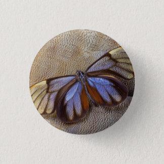 Chapa Redonda De 2,5 Cm pluma egipcia del ganso de la mariposa del