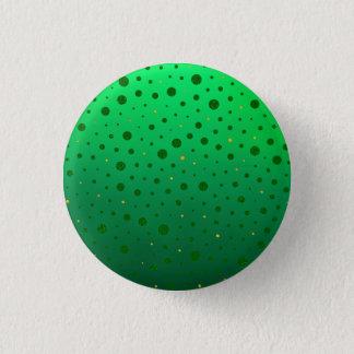 Chapa Redonda De 2,5 Cm Puntos elegantes - oro verde - el día de St