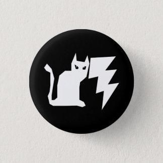 Chapa Redonda De 2,5 Cm Relámpago de Lectro del gatito