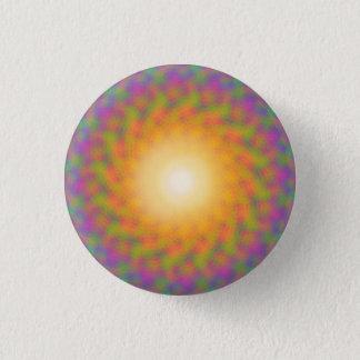 Chapa Redonda De 2,5 Cm Resplandor solar Trippy del arco iris
