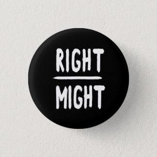 CHAPA REDONDA DE 2,5 CM RIGHT/MIGHT