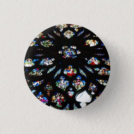 Chapa Redonda De 2,5 Cm Rosetón de Notre-Dame, Paris