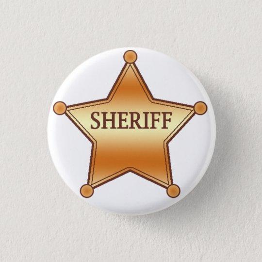 Chapa Redonda De 2,5 Cm Sheriff plaque