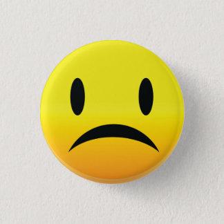 Chapa Redonda De 2,5 Cm Smilie hace frente a triste