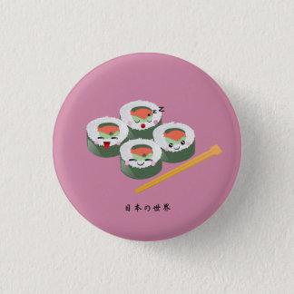 Chapa Redonda De 2,5 Cm Sushi de Kawaii