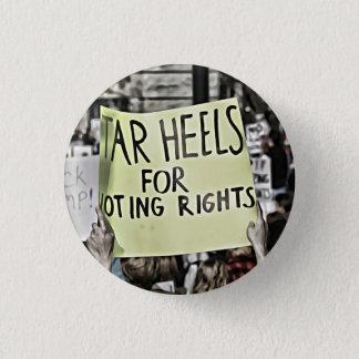 Chapa Redonda De 2,5 Cm Tarheels para los derechos al voto