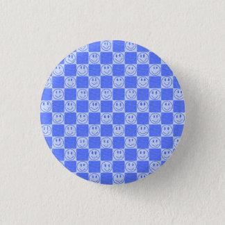 Chapa Redonda De 2,5 Cm Tejas azules con sonrisas