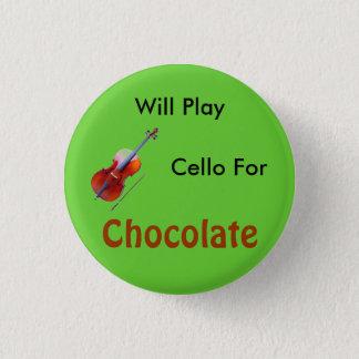 Chapa Redonda De 2,5 Cm Tocará el violoncelo para el chocolate