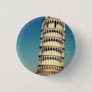 Chapa Redonda De 2,5 Cm Torre de Pisa