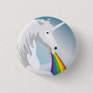Chapa Redonda De 2,5 Cm Unicornios puking del ejemplo