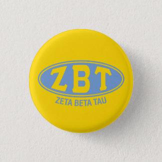 Chapa Redonda De 2,5 Cm Vintage beta del Tau el | de la zeta