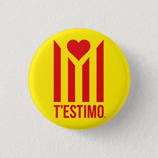 Chapa Redonda De 2,5 Cm Xapa T'estimo Catalunya®