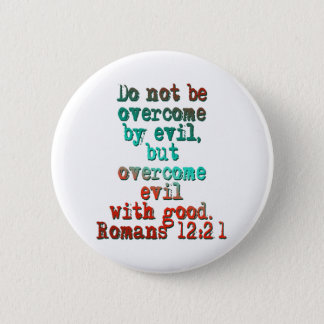 Chapa Redonda De 5 Cm 12:21 de los romanos