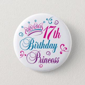 Chapa Redonda De 5 Cm 17mo Princesa del cumpleaños