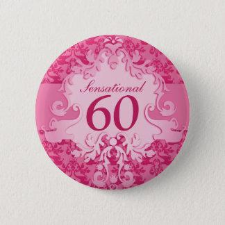 Chapa Redonda De 5 Cm 60 botones/insignias sensacionales del rosa del