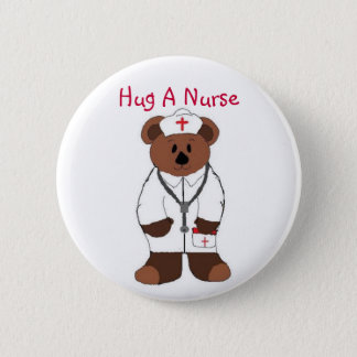 Chapa Redonda De 5 Cm Abrace a una enfermera