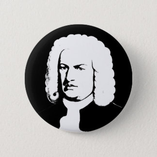 Chapa Redonda De 5 Cm Abstractamente y Johann Sebastian Bach en negras