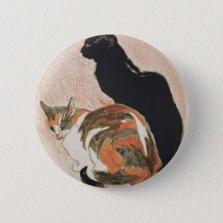 Chapa Redonda De 5 Cm Acuarela - 2 gatos - Théophile Alejandro Steinlen