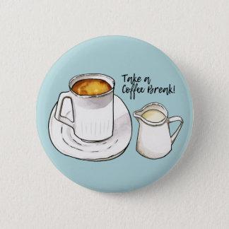 Chapa Redonda De 5 Cm Acuarela del descanso para tomar café y ejemplo de