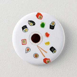 Chapa Redonda De 5 Cm Acuarela determinada del sushi