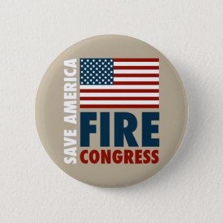 Chapa Redonda De 5 Cm Ahorre al congreso del fuego de América