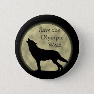 Chapa Redonda De 5 Cm Ahorre el lobo olímpico