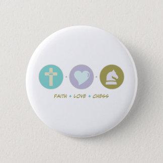 Chapa Redonda De 5 Cm Ajedrez del amor de la fe