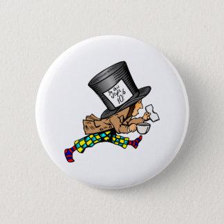 Chapa Redonda De 5 Cm Alicia en el sombrerero enojado del país de las