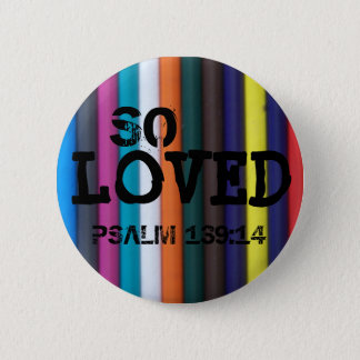 Chapa Redonda De 5 Cm Amado tan, 139:14 del salmo